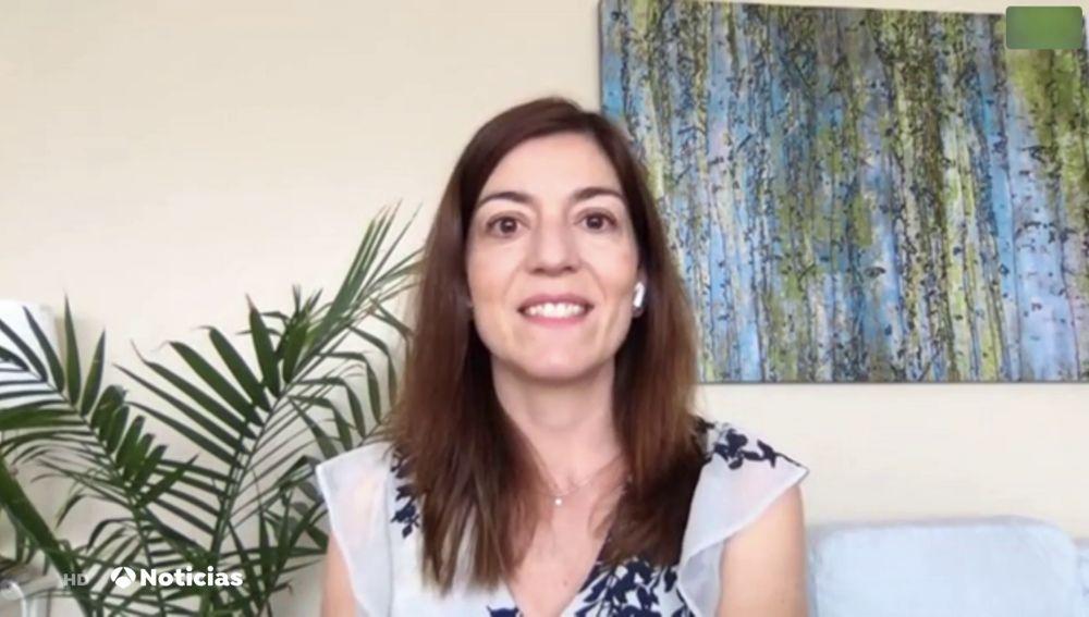 La epidemióloga María Lahuerta, en Antena 3 Noticias