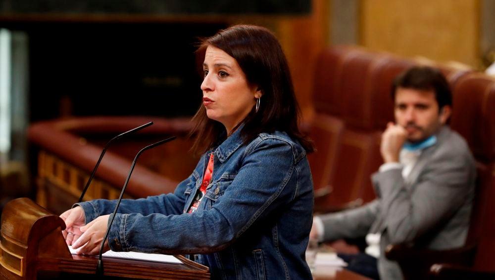 La portavoz del PSOE, Adriana Lastra