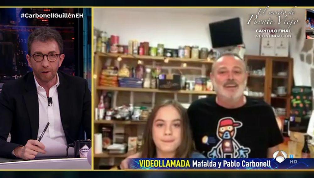 Mafalda Carbonell se sincera delante de su padre sobre lo que echa de menos el colegio