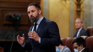 Santiago Abascal, durante su intervención en el Congreso de los Diputados
