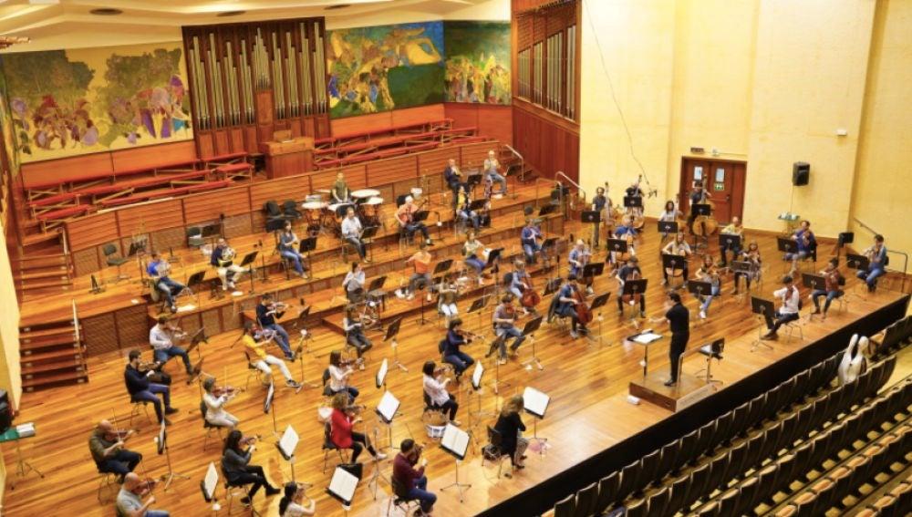La Orquesta Sinfónica de Euskadi vuelve a los ensayos con medidas para protegerse del coronavirus