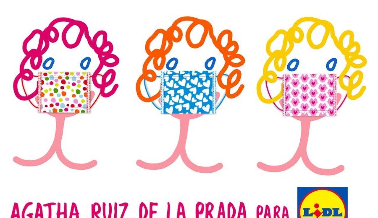 Mascarillas Lidl - Agatha Ruiz de la Prada