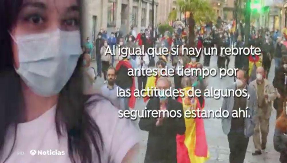 El mensaje de indignación de una enfermera de Salamanca por las caceroladas en las calles