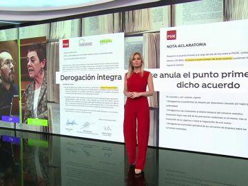 El acuerdo con Bildu vuelve a mostrar un Gobierno con dos versiones