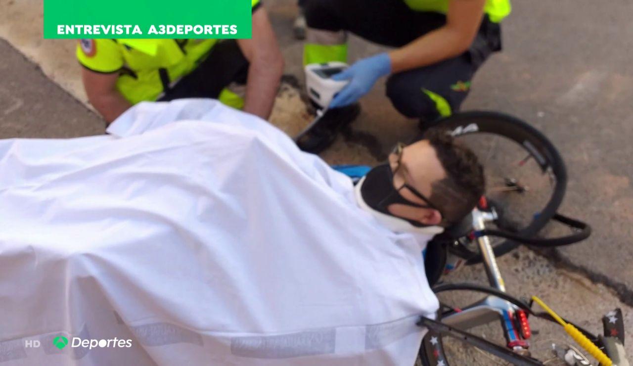 """El terrible atropello a  Paco Domingo cuando entrenaba con su handbike: """"Pensé que me quedaba allí"""""""