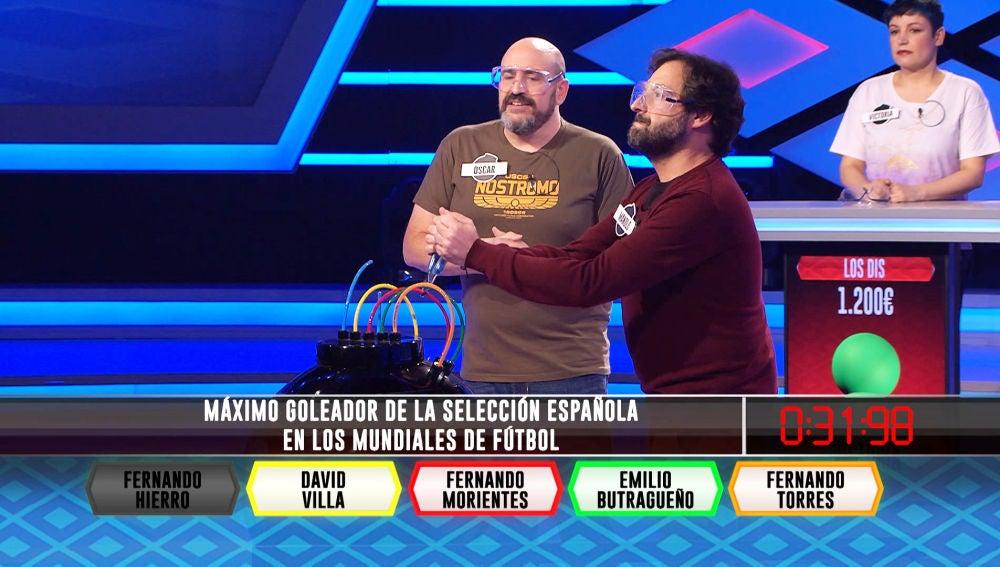David Villa, el cómplice perfecto de Óscar y Manolo, de los 'Persos', en '¡Boom!'