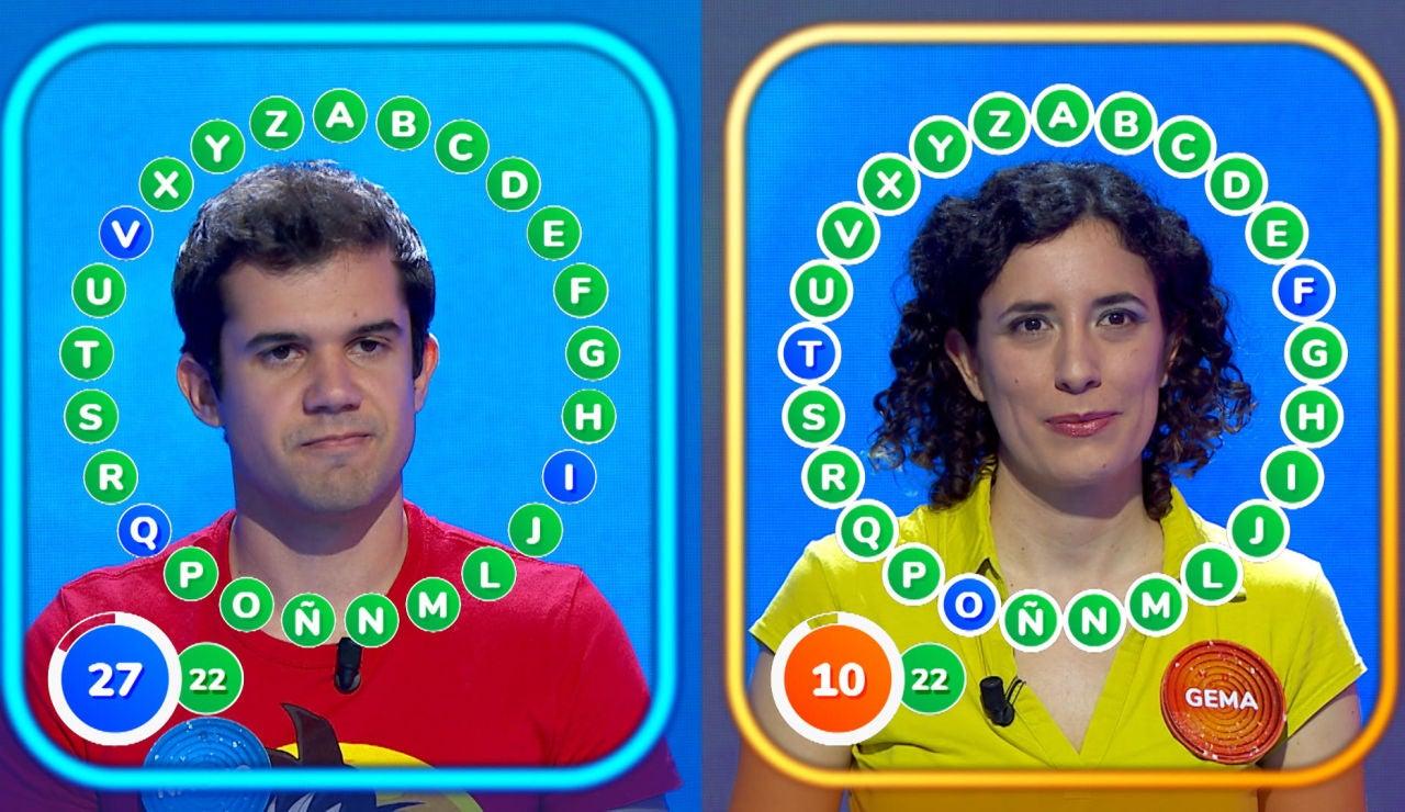 ¡Emoción al máximo con Gema y Nacho en 'El Rosco' más reñido de 'Pasapalabra'!