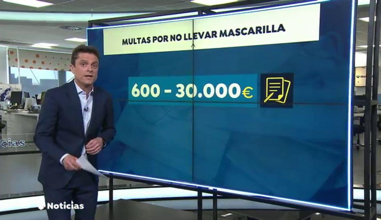 Las multas por no llevar la mascarilla obligatoria frente el coronavirus: de 600 a 30.000 euros