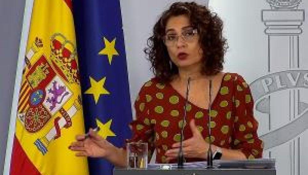 María José Montero tras el Consejo de Ministros