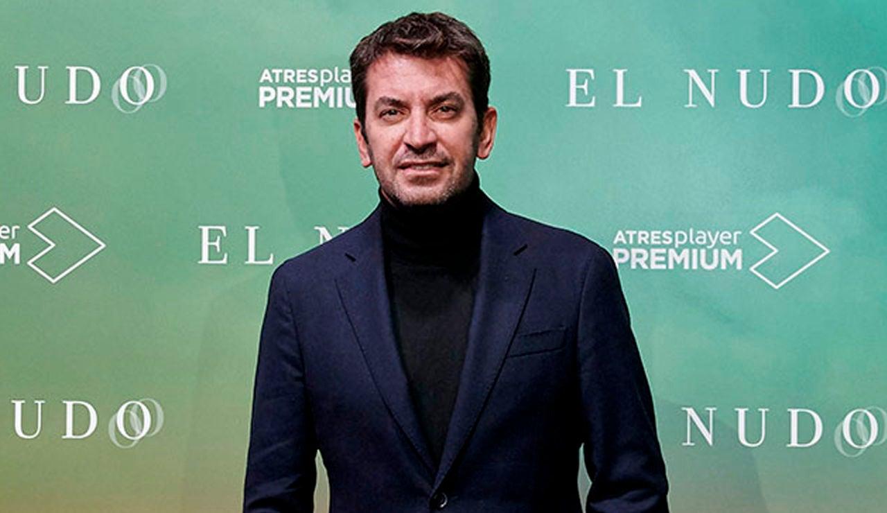 Arturo Valls en la fiesta de presentación de 'El Nudo'