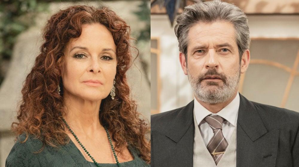 Silvia Marsó y Virgil Mathet, Isabel de los Visos y Jean Pierre en 'El secreto de Puente Viejo'