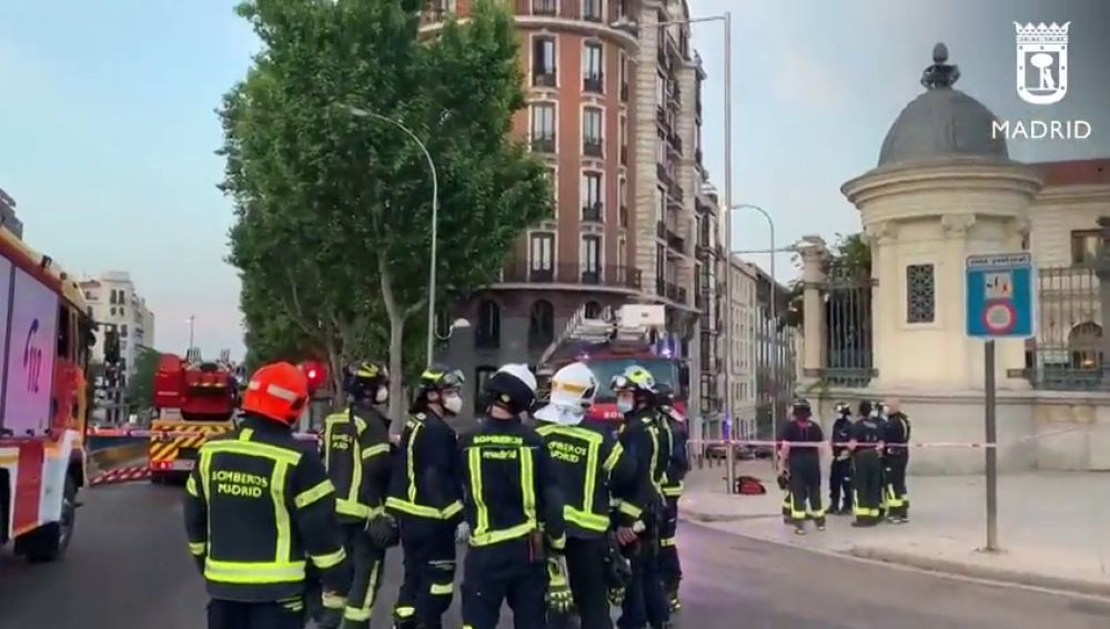 Se derrumba la cúpula de un edificio de Retiro sin causar heridos
