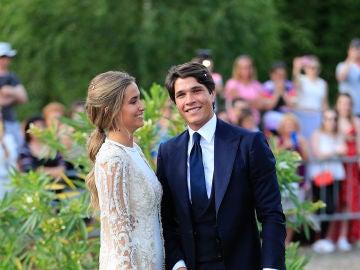 María Pombo y Pablo Castellano en su boda