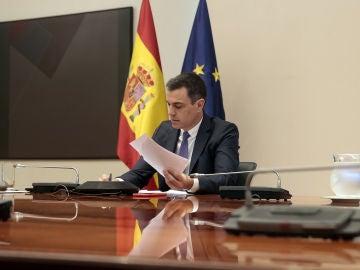 Pedro Sánchez, durante la undécima reunión con los presidentes autonómicos