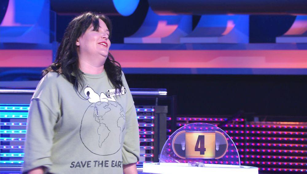 Eva Happy entra dentro del exclusivo grupo de aciertos en el último segundo de '¡Ahora caigo!'