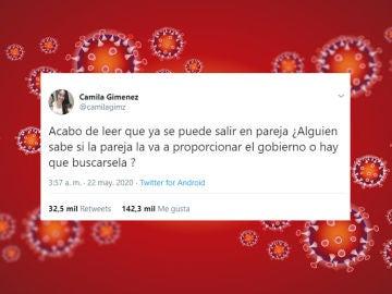 Tuit de @camilagimz