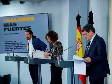 Iglesias, Montero y Escrivá