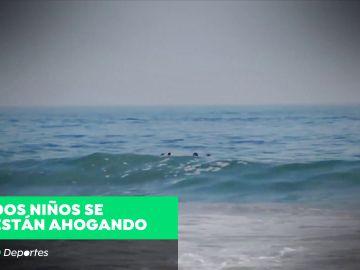Dos surfistas salvan a dos niños en Galicia