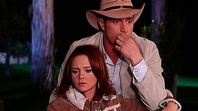 Natasha Klauss y Michel Brown en 'Pasión de Gavilanes' como Sarita Elizondo y Franco Reyes