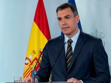 Pedro Sánchez comparece en Moncloa