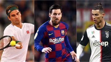 Roger Federer, Cristiano Ronaldo, Leo Messi... La lista completa de los deportistas mejor pagados del mundo
