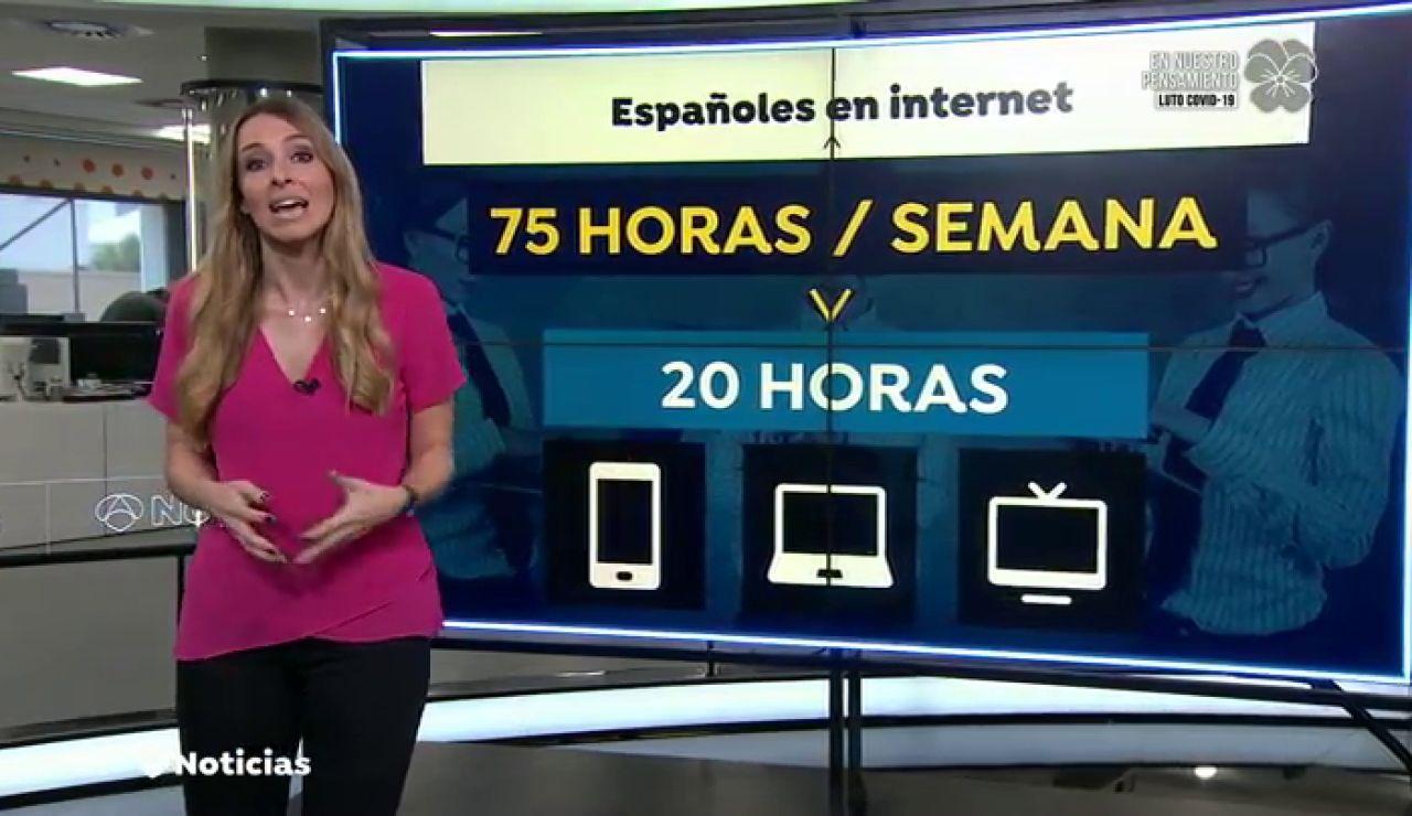 Los españoles pasamos la mitad del día conectados a Internet durante la cuarentena por el coronavirus