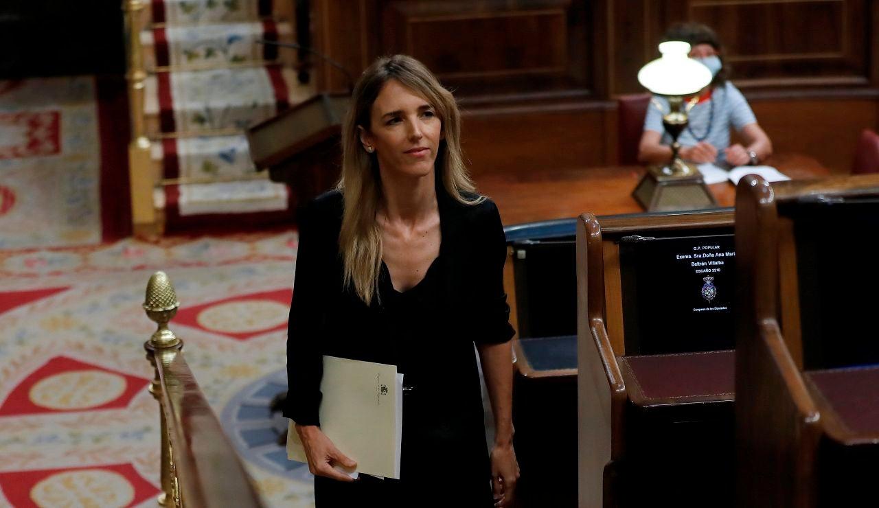 La portavoz del Grupo Popular, Cayetana Álvarez de Toledo, en el Congreso de los Diputados
