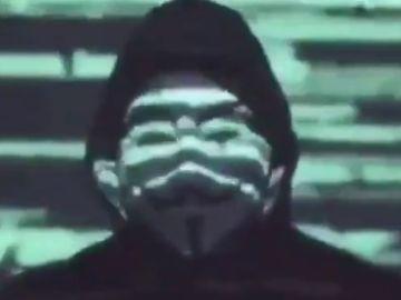 Captura de pantalla del comunicado de Anonymous.