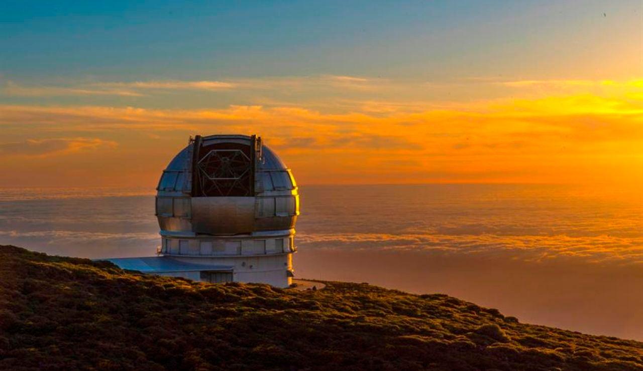 Vista del mayor telescopio del mundo, el Grantecan, en Santa Cruz de Tenerife