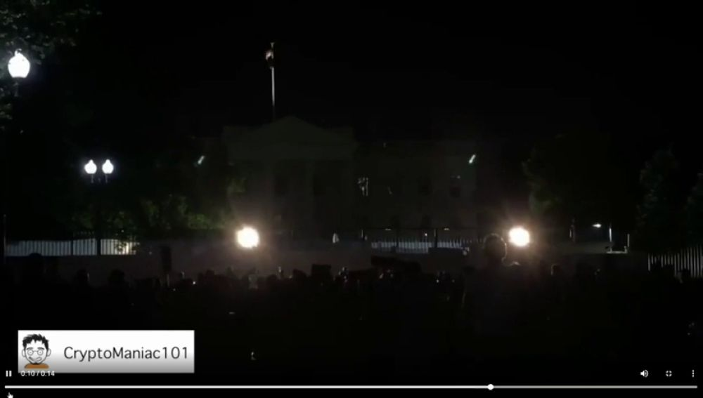 Las imágenes del apagón en la Casa Blanca en el sexto día de protestas por la muerte de George Floyd