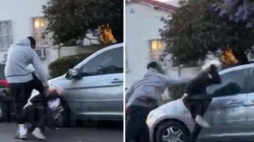 JR Smith dando una paliza a un hombre blanco