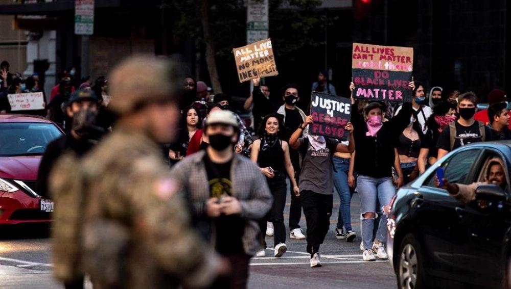 Disturbios en California