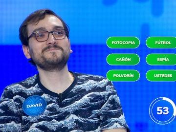 David paraliza el plató de 'Pasapalabra' con su admirable jugada en tan solo 22 segundos