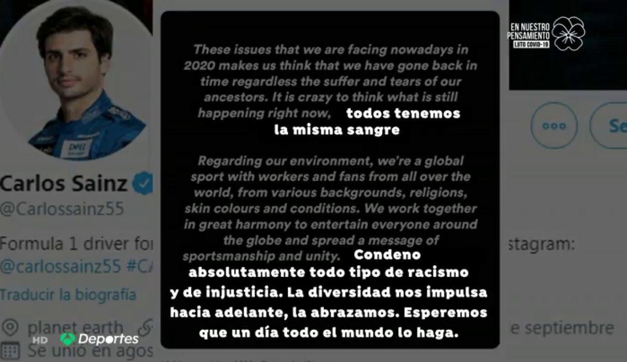 """Carlos Sainz responde a Hamilton: """"Es una locura lo que está sucediendo, todos tenemos la misma sangre"""""""