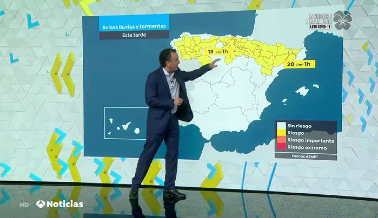 Junio arranca este lunes con nuevas tormentas, granizo y caída de temperaturas en el norte de España