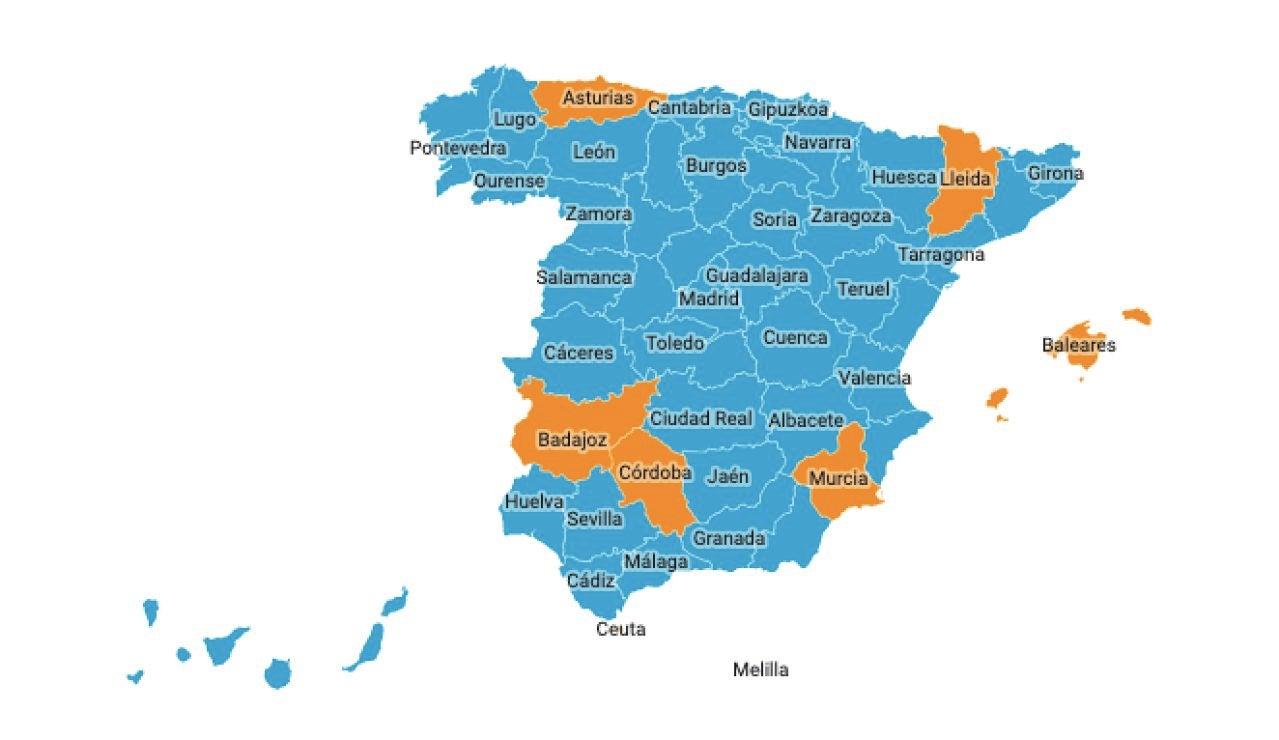 Mapa rebrotes