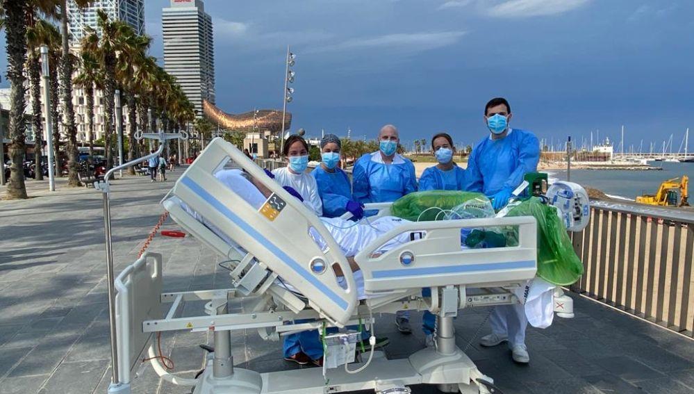 Un paciente de la UCI del hospital del Mar en Barcelona, puede cumplir su deseo de ver el mar