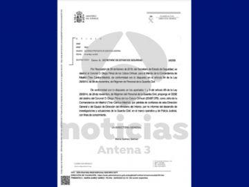 Informe sobre Pérez de los Cobos
