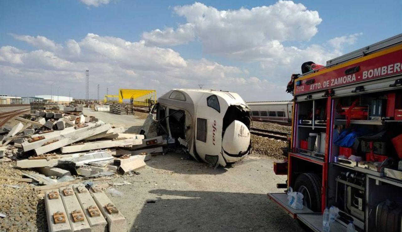 Descarrila un tren Alvia en Zamora
