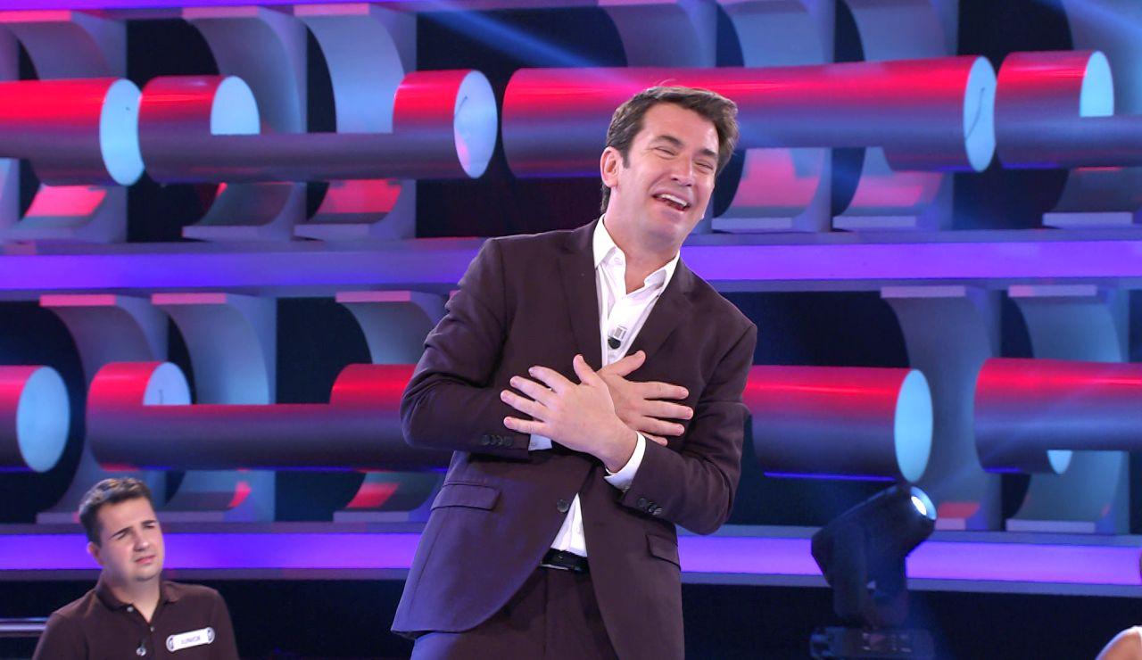 """Arturo Valls se emociona al ver a sus padres en '¡Ahora caigo!: """"¡Gracias papis!"""""""