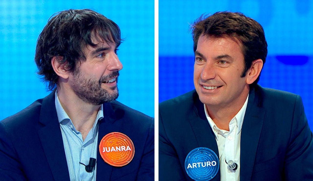 Arturo Valls y Juanra Bonet adelantan en 'Pasapalabra' algunas novedades sobre 'Mask Singer' y '¿Quién quiere ser millonario?'