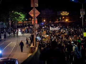 Protestas en Nueva York por George Floyd