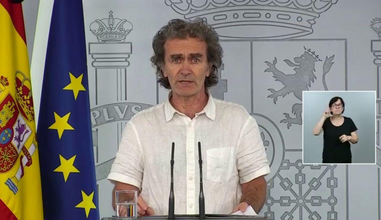 """""""Fernando Simón: """"Los datos totales de fallecidos por coronavirus se van a actualizar una vez a la semana y será en breve"""""""