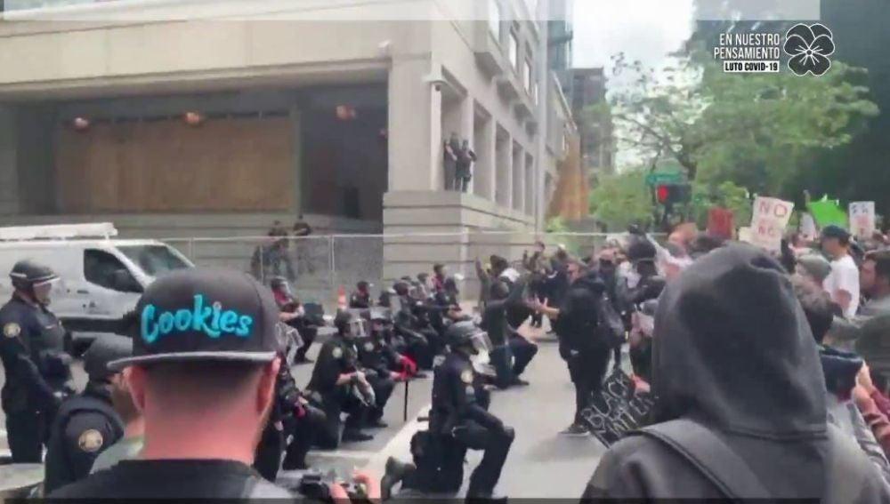 Protestas en Portland.