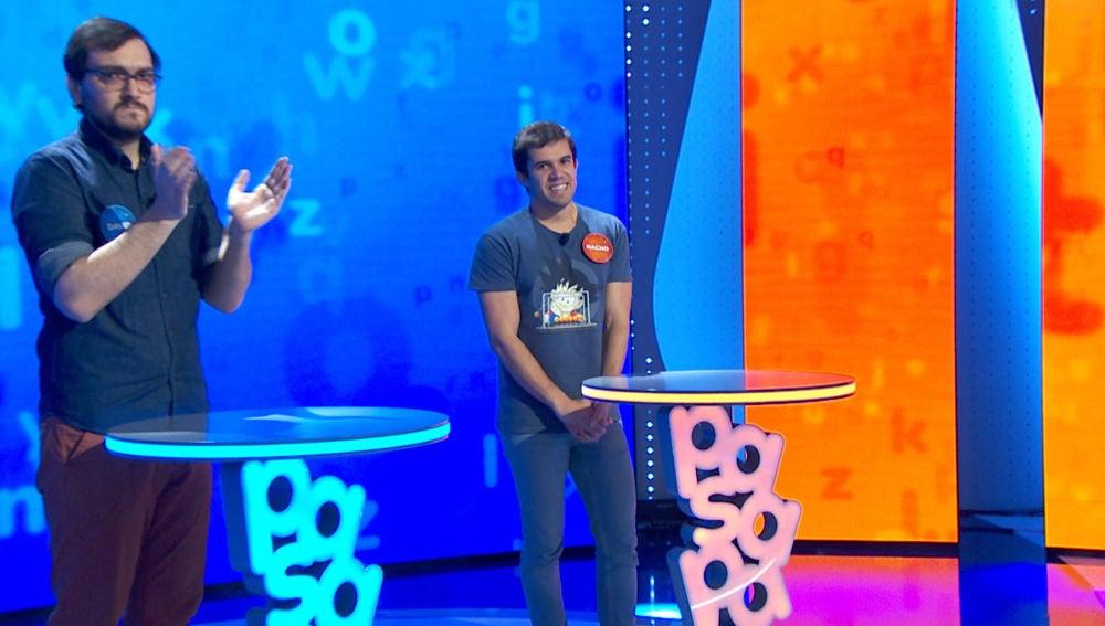 """""""Opciones y dudas"""", Nacho y David protagonizan un duelo en la cumbre que mantiene en vilo al plató de 'Pasapalabra'"""