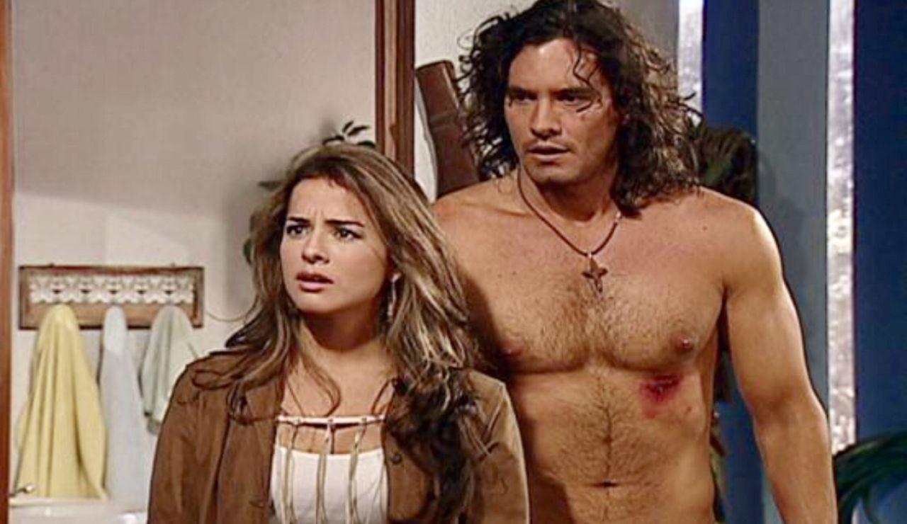 Danna García y Mario Cimarro como Norma Elizondo y Juan Reyes en 'Pasión de Gavilanes'