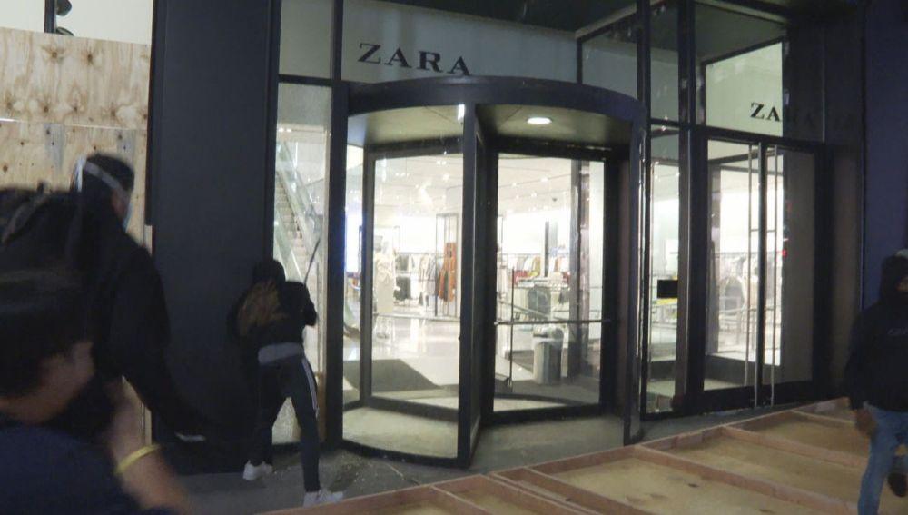 Saqueos en Zara en Nueva York