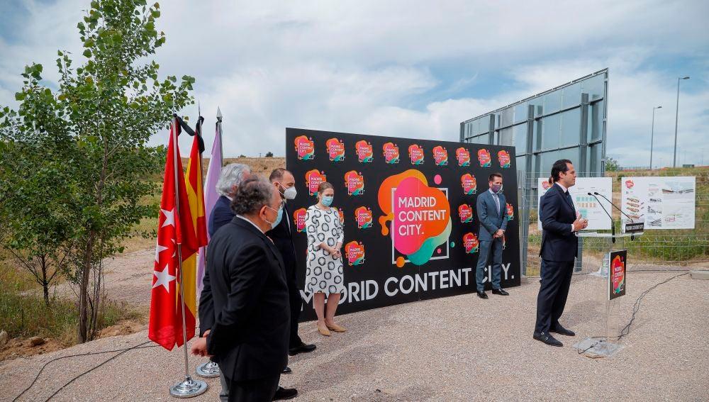 El vicepresidente de la Comunidad de Madrid, Ignacio Aguado, durante el acto de 'Madrid Content City'