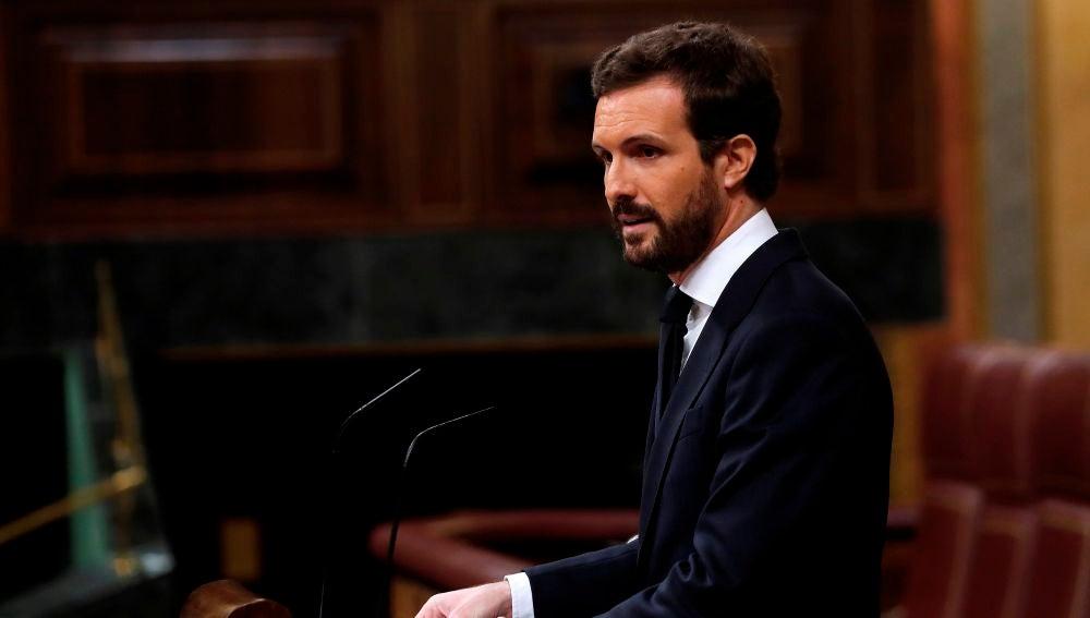 El líder del Partido Popular, Pablo Casado