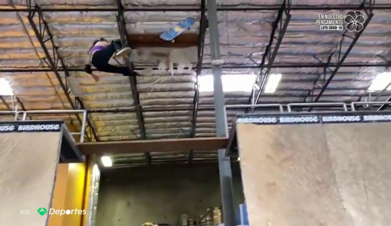 El momento de la espluzante caída de Sky Brown, la joven promesa del skate mundial, en la que fracturó el cráneo